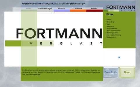 Screenshot of Home Page fortmann-ag.ch - fortmann-ag | Fortmann Glasfalwände und Wintergarten - captured June 7, 2016