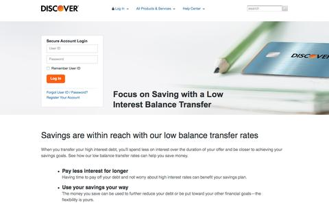 Balance Transfers: Best Ways to Lower Credit Card Interest | Discover