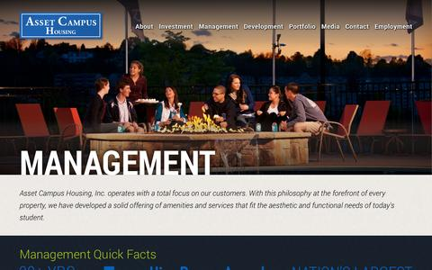 Screenshot of Team Page assetcampushousing.com - Management | Asset Campus Housing - captured Sept. 30, 2014