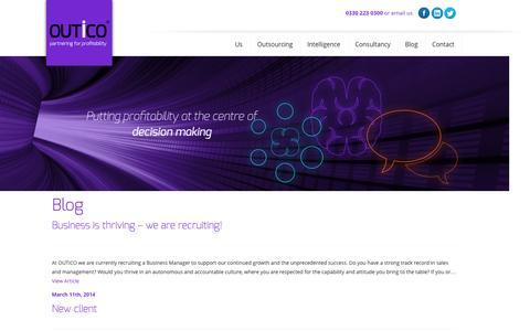 Screenshot of Blog outico.com - OUTiCO  » Blog - captured Oct. 26, 2014