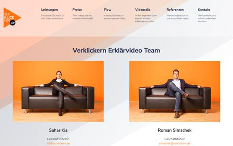 Screenshot of Team Page verklickern.de - Team - Verklickern - captured Nov. 25, 2018