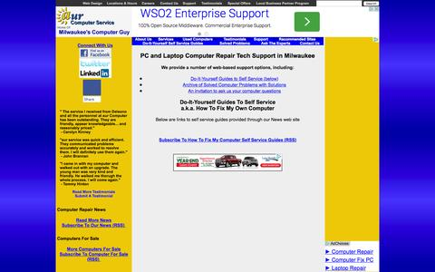 Screenshot of Support Page aurcomputerservice.com - Milwaukee Computer Repair Support, Self-Service Guides, How to Fix My Own Computer | aur Computer Service - captured Dec. 28, 2015