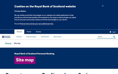 Screenshot of Site Map Page rbs.co.uk - Site map | Royal Bank of Scotland - captured Nov. 26, 2019