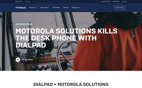 Motorola transforms workforce with Dialpad | Dialpad