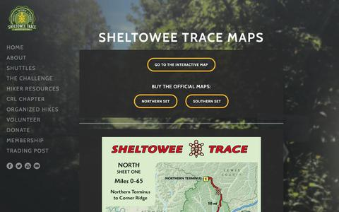 Screenshot of Maps & Directions Page sheltoweetrace.org - MAPS - SHELTOWEE TRACE ASSOCIATION - captured Oct. 2, 2018