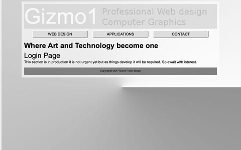 Screenshot of Login Page gizmo1.co.uk - Gizmo1 Web Design | Login - captured Oct. 21, 2018