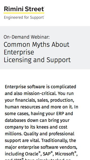 Common Myths About Enterprise  Licensing and Support On-Demand Webinar