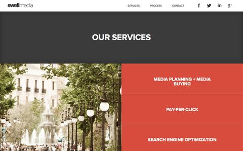 Screenshot of Services Page swell-media.com - Services | Swell Media - captured Sept. 26, 2014