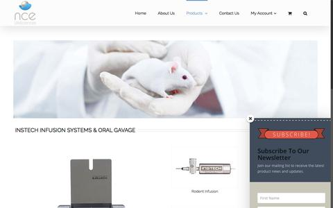 Screenshot of Products Page ncelifesciences.com - Products - NCE Lifesciences | Laboratory animal research products distributor India - captured July 4, 2018