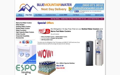 Screenshot of Trial Page onewater.co.uk - 14 Day Free Trial | Onewater - captured Oct. 5, 2014