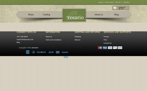 Screenshot of FAQ Page darosario.com - FAQ – darosario - captured Nov. 24, 2016
