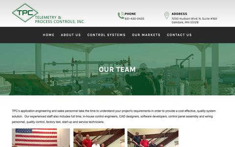 Screenshot of Team Page tpcusa.com - Our Team | Telemetry & Process Controls, Inc. - captured Oct. 18, 2018