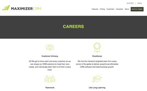 Careers - Maximizer CRM