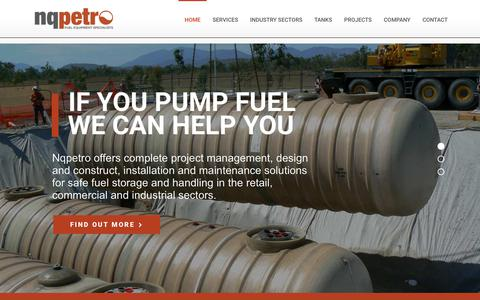Screenshot of Home Page nqpetro.com.au - Nqpetro - Fuel Equipment Specialists for Installations, Servicing and Maintenance - captured Sept. 20, 2018