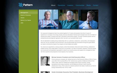 Screenshot of Team Page patternenergy.com - Pattern Energy :: Management - captured Oct. 2, 2014