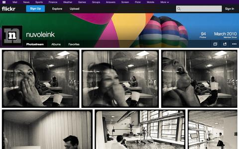 Screenshot of Flickr Page flickr.com - Flickr: nuvoleink's Photostream - captured Oct. 26, 2014