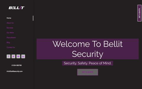 Screenshot of Home Page bellitsecurity.com - Bellit Security – For all of your security needs - captured Oct. 10, 2017