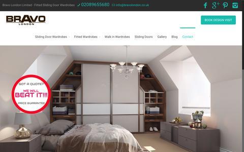 Screenshot of Contact Page bravolondon.co.uk - Contact Us | bravolondon.co.uk - captured Oct. 11, 2017