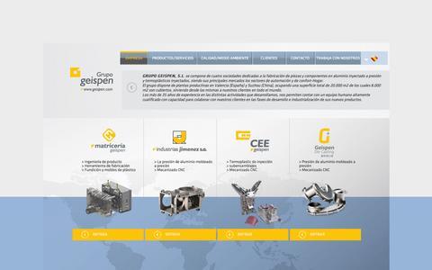 Screenshot of Home Page geispen.com - grupo geispen | GRUPO GEISPEN - captured Sept. 20, 2015