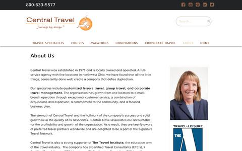 Screenshot of About Page centraltravel.com - Agency Information  -  Central Travel - captured July 16, 2018