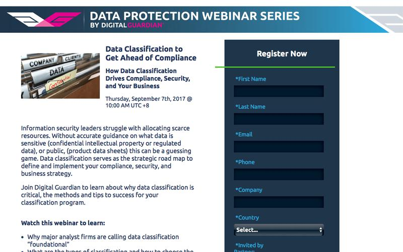 Webinar Registration | Data Classification: The Foundation for Security