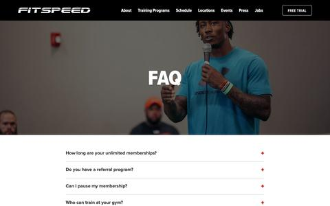 Screenshot of FAQ Page fit-speed.com - FAQ - FitSpeed - captured Oct. 10, 2018