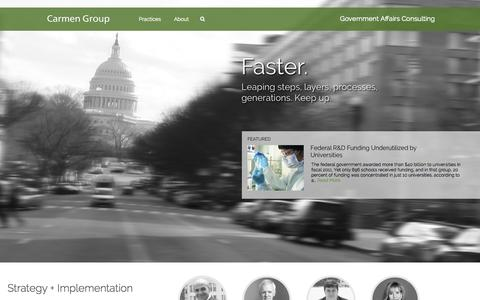 Screenshot of Home Page carmengroup.com - Carmen Group | Government Affairs Consulting - captured Sept. 30, 2014