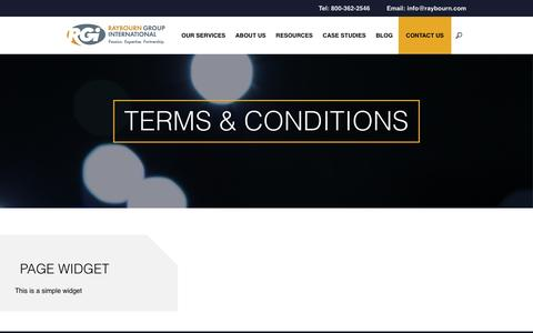 Screenshot of Terms Page raybourn.com - Terms & Conditions – Raybourn Group International - captured Nov. 29, 2016