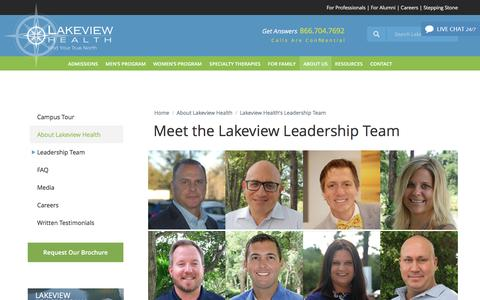 Screenshot of Team Page lakeviewhealth.com - Lakeview Health's Leadership Team - Lakeview Health - captured Oct. 19, 2016