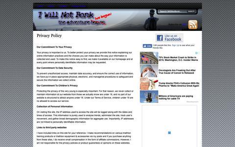 Screenshot of Privacy Page iwillnotbonk.com - Privacy Policy - I Will Not Bonk :I Will Not Bonk - captured Nov. 11, 2018