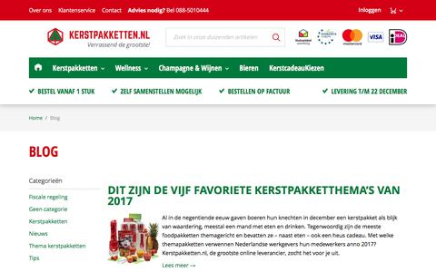 Screenshot of Blog kerstpakketten.nl - Blog | Blog - captured Oct. 17, 2017