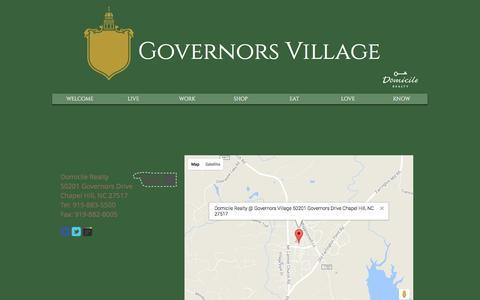 Screenshot of Maps & Directions Page villagenc.com - Governors Village | A Unique Boutique Neighborhood | Chapel Hill, NC | MAP - captured Feb. 21, 2018