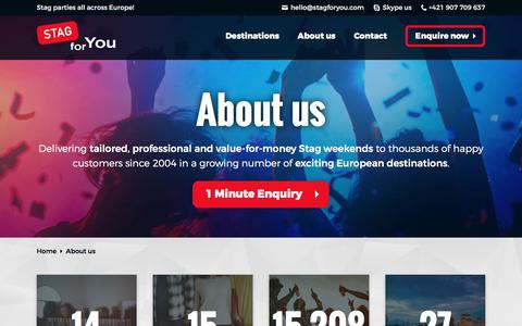 Screenshot of About Page stagforyou.com - About Us – Who We Are, What We Do And Why We're Different - captured Sept. 21, 2018