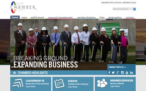 Screenshot of Home Page fortsmithchamber.org - Home | Fort Smith Regional Chamber of Commerce - captured Sept. 11, 2015