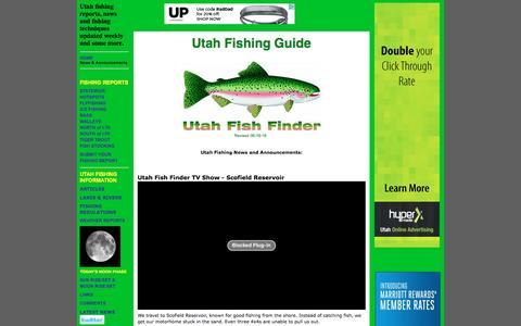 Screenshot of Home Page utahfishfinder.com - Utah Fishing Guide - Utah Fish Finder - captured June 17, 2016