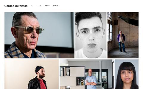 Screenshot of Team Page burniston.com - ii —  Gordon Burniston - captured Jan. 1, 2018