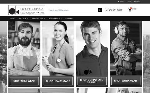 Screenshot of Home Page okuniform.com - OK Uniform-US-NY - captured Oct. 18, 2018
