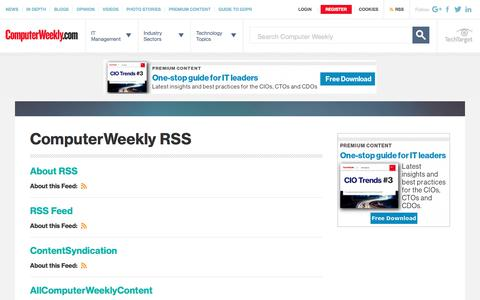 RSS News Feed | Technology News | ComputerWeekly.com