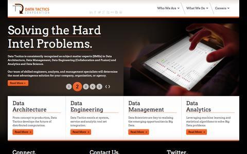 Screenshot of Home Page data-tactics.com - Data Tactics Corporation - Data Tactics Corporation - captured Sept. 19, 2014