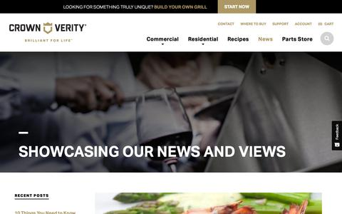 Screenshot of Press Page crownverity.com - News - Commercial Grilling Equipment - Crown Verity - captured Nov. 11, 2018