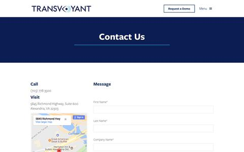 Contact | TransVoyant
