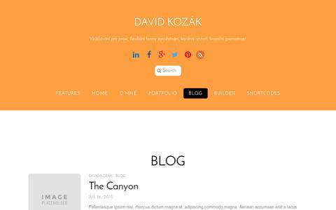 Screenshot of Blog davidkozak.cz - Blog - captured Oct. 29, 2014
