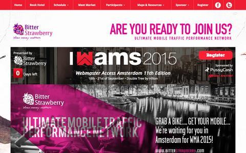 Screenshot of Home Page webmasteraccess.com - WebmasterAccess 2015 - captured Oct. 1, 2015