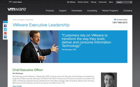 Screenshot of Team Page vmware.com - VMware Leadership in Virtualization and Cloud Computing | United States - captured Oct. 10, 2014