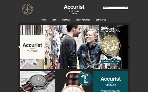 Screenshot of Home Page accurist.co.uk - Accurist Watches: Official Accurist Watches Web Site   Accurist.co.uk - captured Oct. 4, 2014