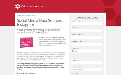 Screenshot of Landing Page crimsonhexagon.com - Social Media Data Source Guide: Instagram - captured Sept. 30, 2017