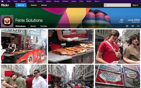 Screenshot of Flickr Page flickr.com - Flickr: Fenix Solutions' Photostream - captured Oct. 22, 2014