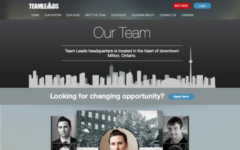 Screenshot of Team Page teamleads.com - TeamLeads  » Meet The Team - captured Sept. 19, 2014