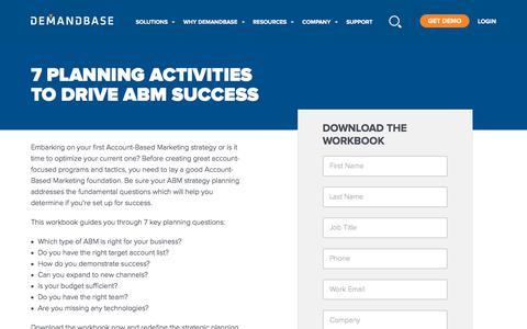 Screenshot of Case Studies Page demandbase.com - 7 Planning Activities to Drive ABM Success | Demandbase - captured Nov. 6, 2019