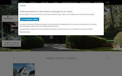 Screenshot of Home Page drieklomp.nl - Drieklomp Makelaars en Rentmeesters - captured Nov. 14, 2018